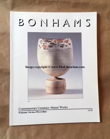 Image for Contemporary Ceramics: Master Works, Wednesday 17th June 1992 at 6:00pm (Bonhams)
